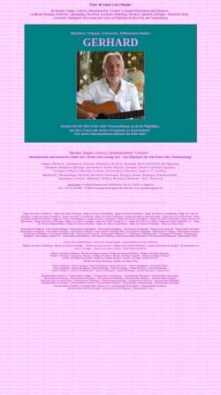 Vorschau der mobilen Webseite www.gerhard-musik.de, Alleinunterhalter Gerhard