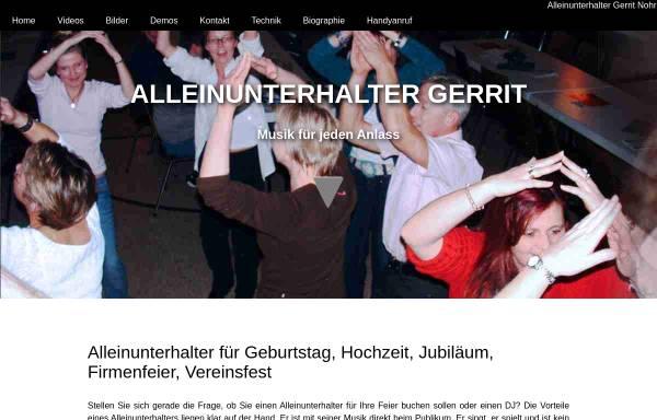 Vorschau von alleinunterhalter-gerrit.de, Alleinunterhalter Gerrit