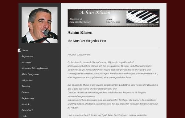 Vorschau von www.alleinunterhalter-koeln.com, Alleinunterhalter Köln