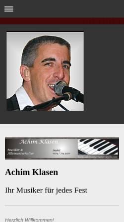 Vorschau der mobilen Webseite www.alleinunterhalter-koeln.com, Alleinunterhalter Köln