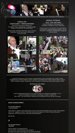 Vorschau der mobilen Webseite www.markus-musiker.de, Alleinunterhalter Markus