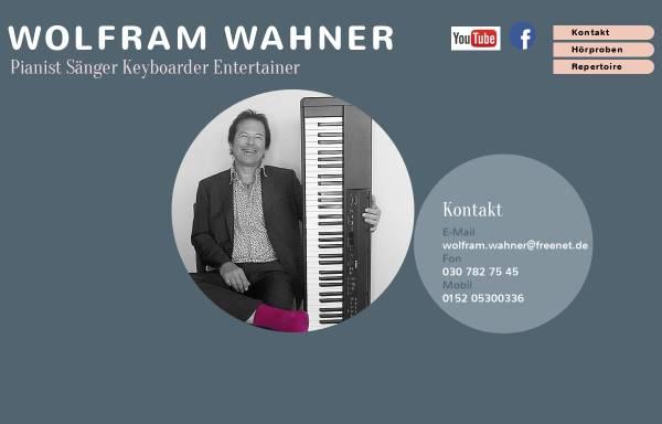 Vorschau von www.wolfram-wahner.de, Alleinunterhalter Wolfram Wahner