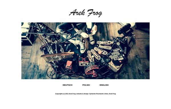 Vorschau von www.frognroll.com, Arek Frog