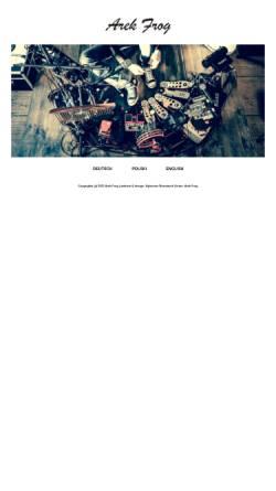 Vorschau der mobilen Webseite www.frognroll.com, Arek Frog
