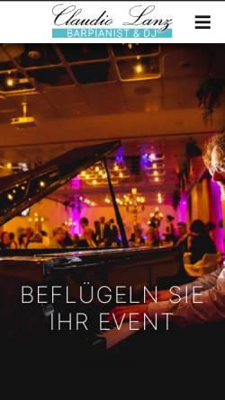 Vorschau der mobilen Webseite www.bar-pianist.com, Barpianist Claudio Lanz