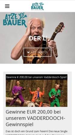 Vorschau der mobilen Webseite www.atzebauer.de, Bauer, Atze
