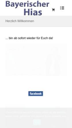 Vorschau der mobilen Webseite www.bayerischer-hias.de, Bayerischer Hias