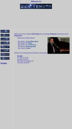 Vorschau der mobilen Webseite ben-tenuto.de, Ben Tenuto