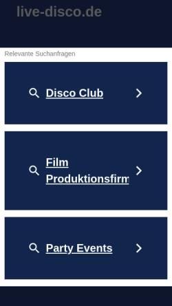 Vorschau der mobilen Webseite www.live-disco.de, Bochenek, Jack