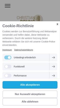 Vorschau der mobilen Webseite www.singforthemoment.de, Bruns, Christian