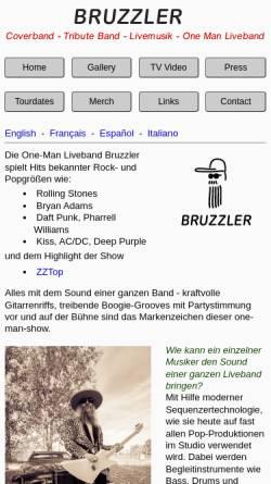 Vorschau der mobilen Webseite www.bruzzler.com, Bruzzler - Liveband