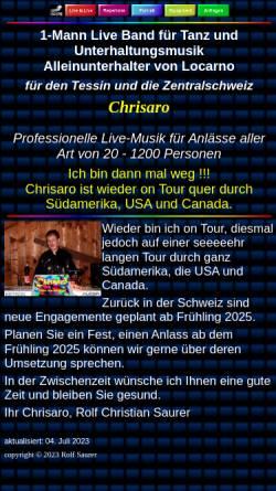 Vorschau der mobilen Webseite chrisaro.ch, Chrisaro