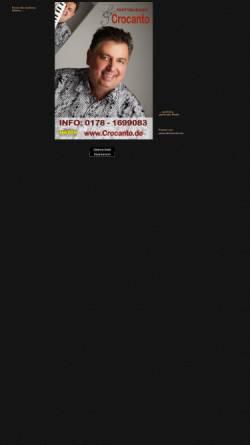 Vorschau der mobilen Webseite www.crocanto.de, Crocanto, Rainer Fickel