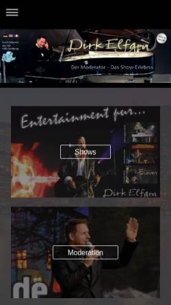 Vorschau der mobilen Webseite www.elfgen.com, Elfgen, Dirk