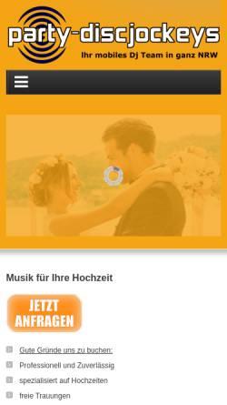 Vorschau der mobilen Webseite www.fantasy-disco.de, Fantasy - Disco