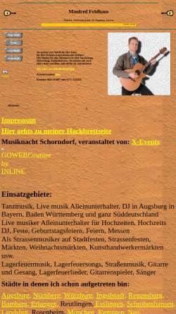 Vorschau der mobilen Webseite www.pleitkultur.de, Feldhaus, Manfred