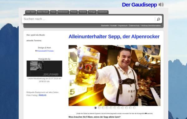 Vorschau von www.gaudisepp.de, Der Gaudisepp
