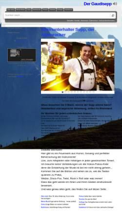 Vorschau der mobilen Webseite www.gaudisepp.de, Der Gaudisepp