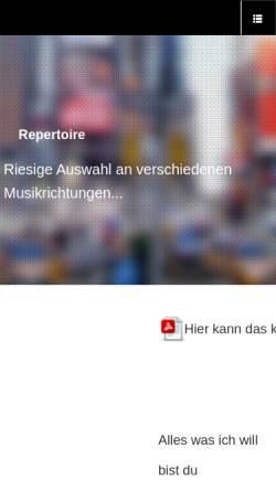 Vorschau der mobilen Webseite www.einmannband.ch, Gelder, Adrian van