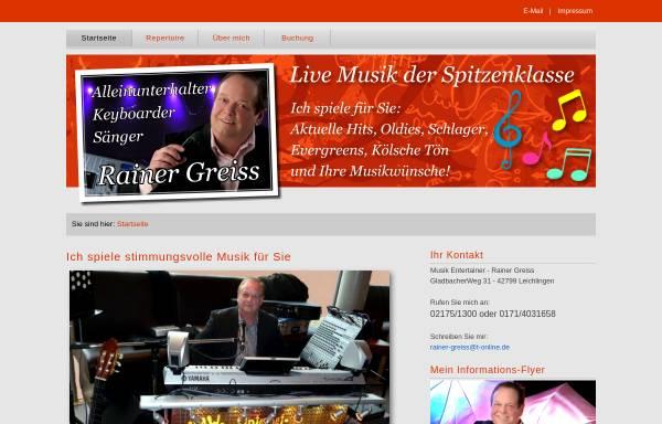 Vorschau von www.alleinunterhalter-profimusiker.de, Greiss, Rainer