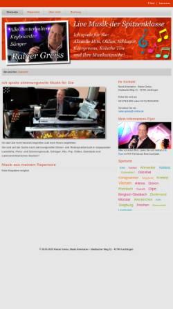 Vorschau der mobilen Webseite www.alleinunterhalter-profimusiker.de, Greiss, Rainer