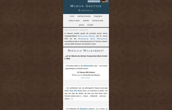 Vorschau von martingruetter.de, Grütter, Martin - Pianist