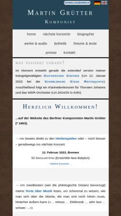 Vorschau der mobilen Webseite martingruetter.de, Grütter, Martin - Pianist