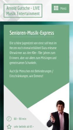 Vorschau der mobilen Webseite www.arnold-gutsche.de, Gutsche, Arnold