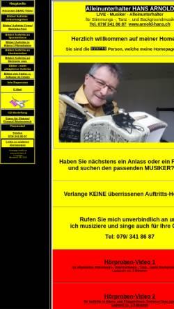 Vorschau der mobilen Webseite arnold-hans.ch, Hans Arnold