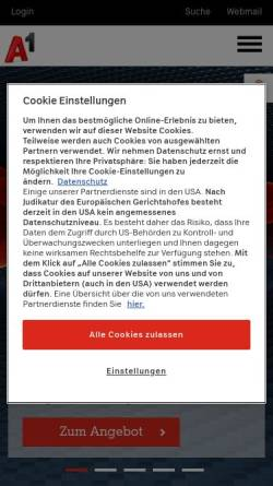 Vorschau der mobilen Webseite members.aon.at, Hoffmann, Sandro