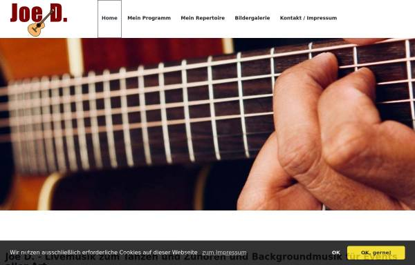 Vorschau von www.joe-d-tanzmusik.de, Joe D.