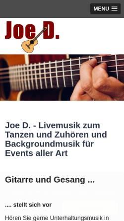 Vorschau der mobilen Webseite www.joe-d-tanzmusik.de, Joe D.