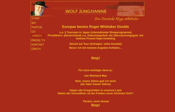 Vorschau von www.rogermusic.de, Junghannß, Wolf