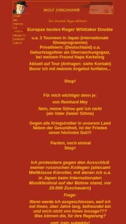 Vorschau der mobilen Webseite www.rogermusic.de, Junghannß, Wolf