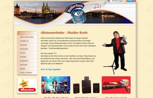 Vorschau von www.musiker-koeln.de, Klameth, Jürgen