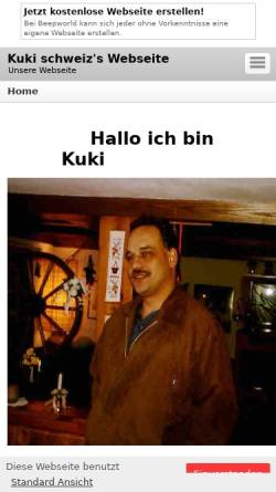Vorschau der mobilen Webseite kuki-schweiz.beepworld.de, Kuki