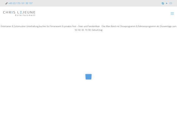 Vorschau von www.buskin-chris.com, Lejeune, Chris - der Entertainer