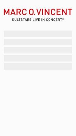 Vorschau der mobilen Webseite www.marc-o-vincent.de, Marc O. Vincent
