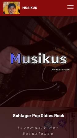 Vorschau der mobilen Webseite www.musikus-live.de, Musikus