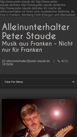 Vorschau der mobilen Webseite www.peters-tanzmusik.de, Peters Tanzmusik
