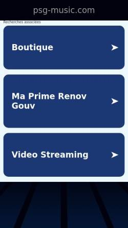Vorschau der mobilen Webseite www.psg-music.com, Philipp Simon Goletz