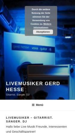 Vorschau der mobilen Webseite produktiv-music.de, Alleinunterhalter modern art