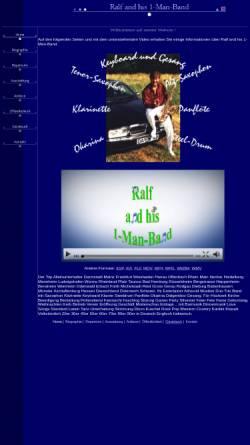 Vorschau der mobilen Webseite www.musik-ralf-simon.de, Ralf and his 1-Man-Band
