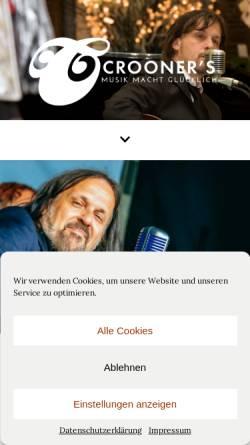 Vorschau der mobilen Webseite www.crooner.de, Ralph Durst. Crooner.