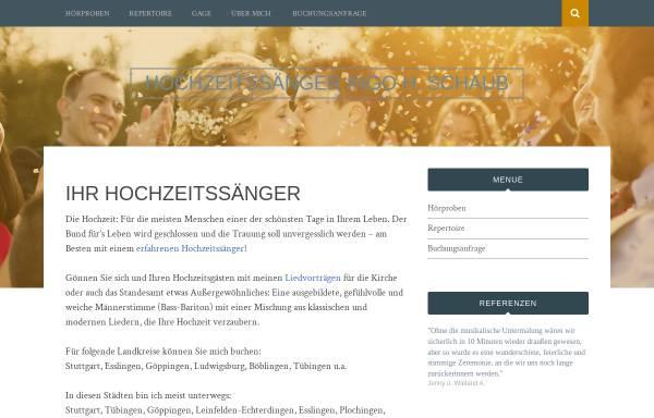 Vorschau von www.hochzeitsaenger.de, Schaub, Ingo