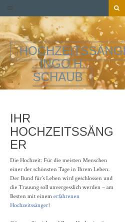 Vorschau der mobilen Webseite www.hochzeitsaenger.de, Schaub, Ingo