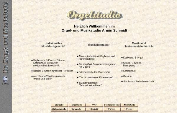 Vorschau von www.orgelstudio.net, Schmidt, Armin