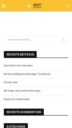 Vorschau der mobilen Webseite www.horst-schoenwaelder.de, Schönwälder, Horst