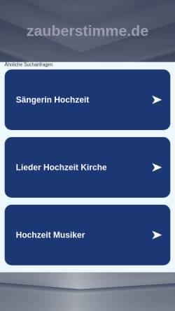 Vorschau der mobilen Webseite www.zauberstimme.de, Schwalbach, Martina