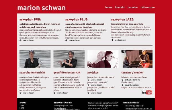 Vorschau von www.saxophonistin-berlin.de, Schwan, Marion